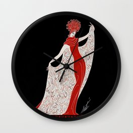 "Art Deco Fashion Design ""Alphabet Cloak"" Wall Clock"