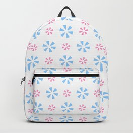 geometric flower 7 pink and blue Backpack
