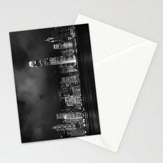 Hong Kong Skyline [Black & White] Stationery Cards