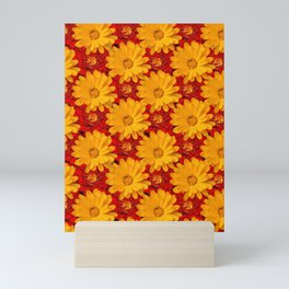 A Medley of Red and Yellow Marigolds Mini Art Print