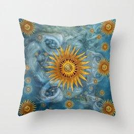 """""""Saturn mandala celestial vault"""" Throw Pillow"""