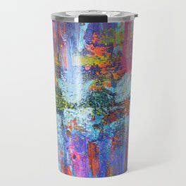 REFLECTIVE METROPOLIS - abstract expressionism prophetic art painting Travel Mug