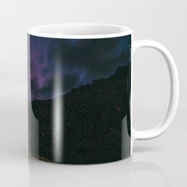 Night sky #stars #mountains Coffee Mug