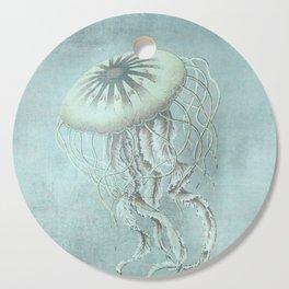 Jellyfish Underwater Aqua Turquoise Art Cutting Board