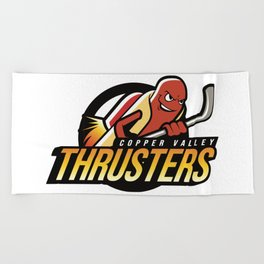 Copper Valley Thrusters Beach Towel