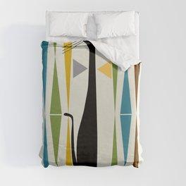Mid-Century Modern Art Cat 2 Duvet Cover
