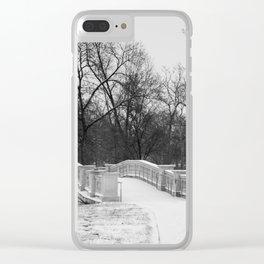 Winter Solitude - St. Louis Snowy Bridge Clear iPhone Case