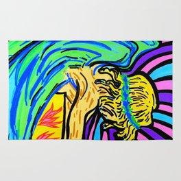 Angel surfer Rug