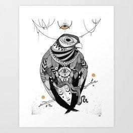 Bird Women 2 Art Print
