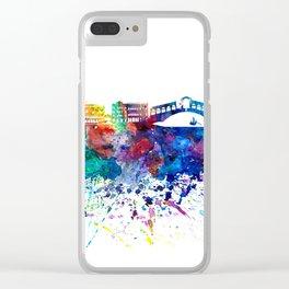Venezia Italy Skyline Silhouette Impressionistic Blast Clear iPhone Case