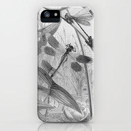 Dragonfly Wasserjungfern Line Art iPhone Case