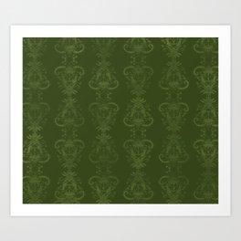 Carnivorous Damask (Lime) Art Print