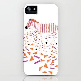 Geometric Zebra iPhone Case