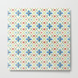 Millefiori Heraldic Lattice Metal Print
