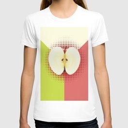 Apple half pop art T-shirt