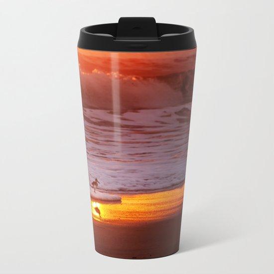 Sunny Sandpiper Metal Travel Mug