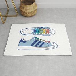 Sneakers - Rainbow & Blue Rug