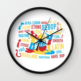 Jazz Trio Modern Art Style Wall Clock