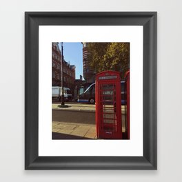 London Telephone Booth Framed Art Print