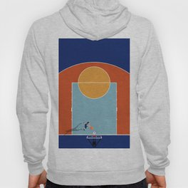 Shooting Hoops | Basketball Court From Above  Hoody