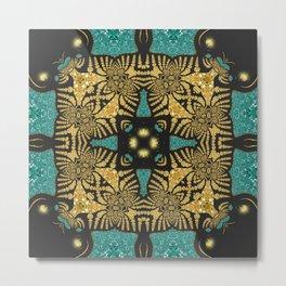 Animalia Batik Sparkle Metal Print