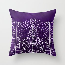 Threshold Guardian (purple) Throw Pillow