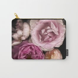 Pink, Purple, and White Roses Carry-All Pouch