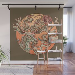 Deer Smoke & Indian Paintbrush Wall Mural