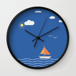 Open Sails Wall Clock