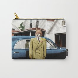 Mr. Fox posing with his new car Carry-All Pouch