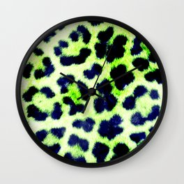 Glamorous Leopard Skin Wall Clock