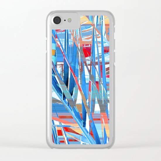 Floral abstract(45). Clear iPhone Case
