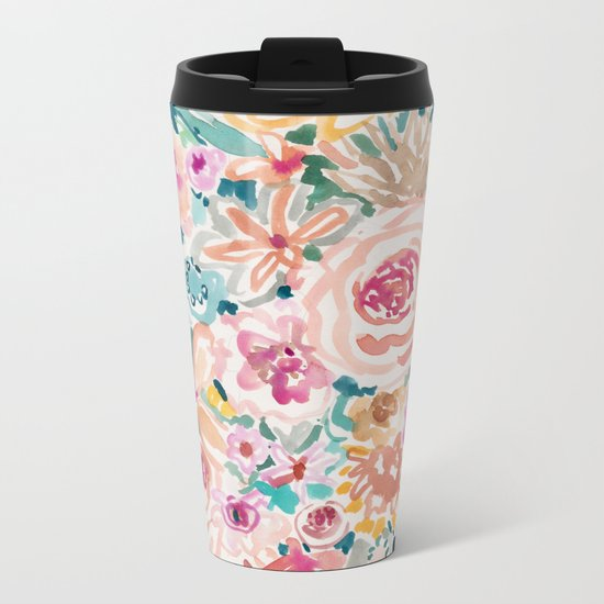 SMELLS LIKE PEACH BEACH Metal Travel Mug