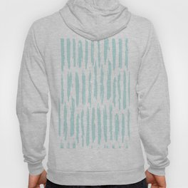 Vertical Dash Stripes Succulent Blue and White Hoody