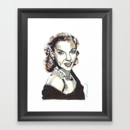 JUDY GARLAND Framed Art Print