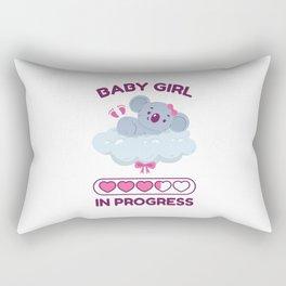 Baby Girl In Progress Rectangular Pillow