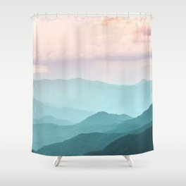 Smoky Mountain National Park Sunset Layers II - Nature Photography Shower Curtain