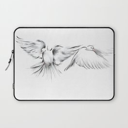 Peace in Mid-Flight (White) Laptop Sleeve