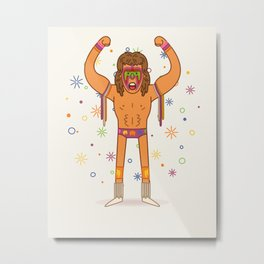 Warrior - Pro Wrestling Illustration Metal Print