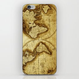 Antique Map of the World iPhone Skin
