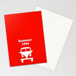 Summer 1969 - red Stationery Cards