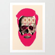 THE AUTUMN BIKER Art Print