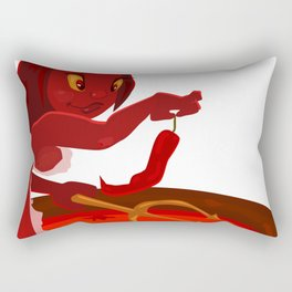 Hot as Hell Chili Girl Rectangular Pillow