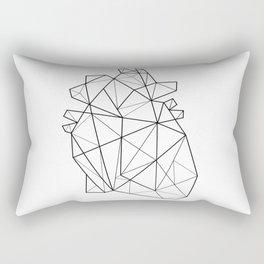 Origami Heart Rectangular Pillow