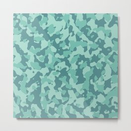 Camouflage Cascade Metal Print