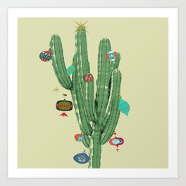 Cactus Christmas Tree 1.0 Art Print