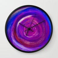 Purple Cyclone Wall Clock