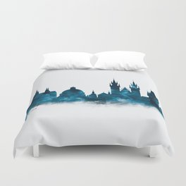 Prague Skyline Duvet Cover