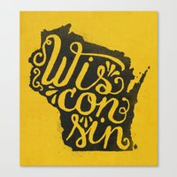 wisconsin Canvas Prints featuring Wisconsin by Landon Sheely