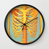 skeleton Wall Clocks featuring Skeleton by ShannonPosedenti